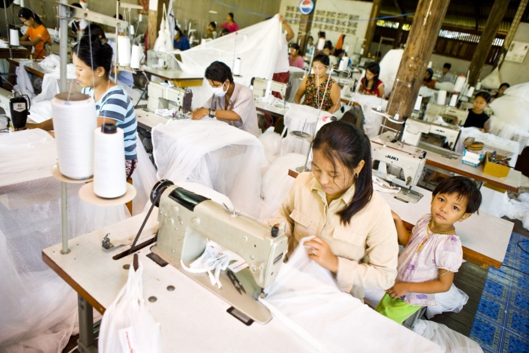 Garment workers in a factory in Burma