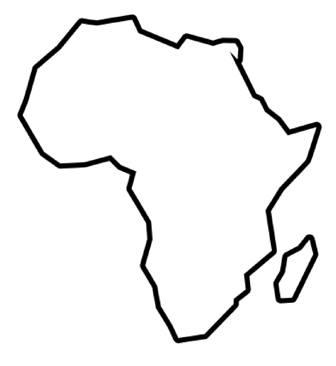 Outline of the Continent of Africa