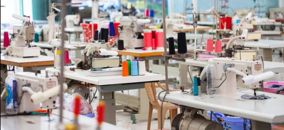 An apparel factory.