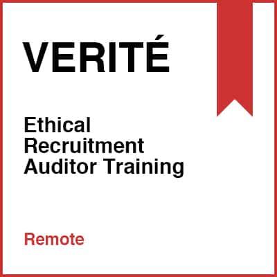 Ethical Recruitment Auditor Training (Remote)