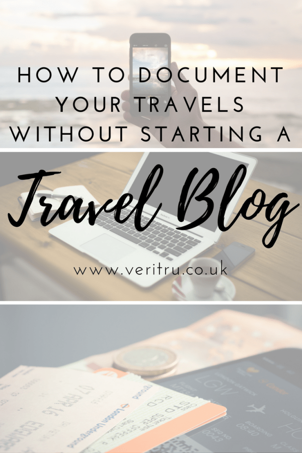 Blogging isn't for everyone! So here's my list of how to document your travels without starting a travel blog broken down into two different sections, Old School and Digital. There's bound to be something that takes your fancy, or maybe a new way that you haven't heard about.
