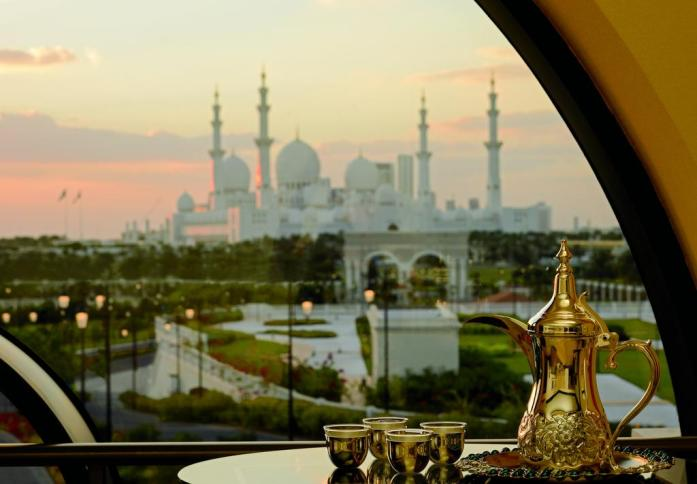 The Ritz-Carlton, Abu Dhabi with view of Sheikh Zayed Grand Mosque
