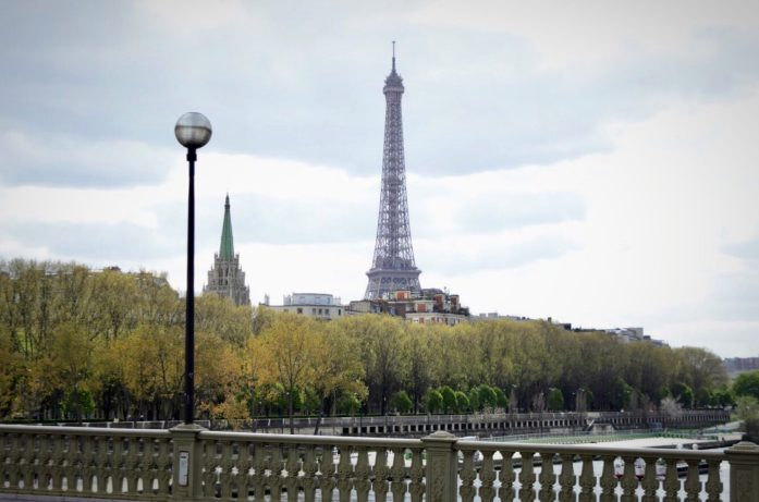 Along the Seine River - View of the Eiffel Tower