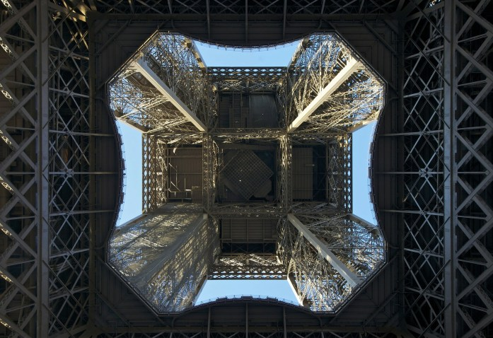 Underneath View of Eiffel Tower