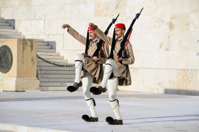 Changing of the Guards - Athens, Greece, Europe - Honeymoon Part 1 - Athens is a beautiful capital city rich with history. With it's impressive Acropolis and quaint pedestrian streets, we headed here for our Honeymoon Part 1! Veritru Travel Blog