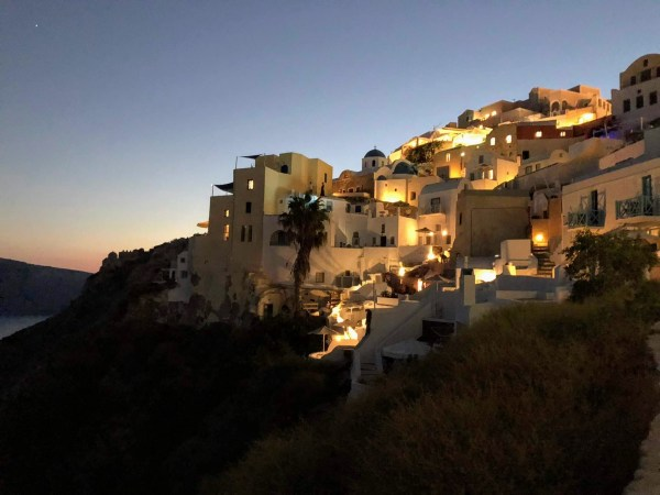 Santorini Oia at night - Honeymoon Part 2 - Oia in Santorini Greece is beautiful with its pretty caldera view, sunsets, windmills and quaint pedestrian streets, we headed here for our Honeymoon Part 2! - Greek Island, Europe - Veritru