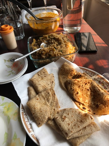 paneer curry with fried rice and chapati - Veritru - Mumbai, India