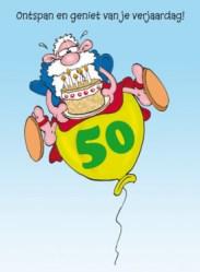 Verjaardagswensen kaartje 50 jaar