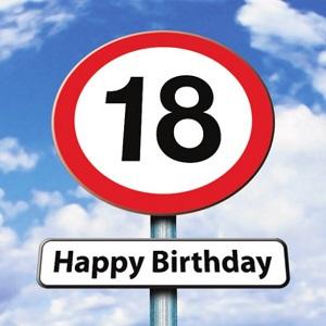 18 jaar verjaardagskaart