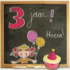Gefeliciteerd 3 jaar