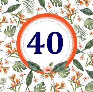 Wonderbaar Gefeliciteerd 40! 40 jaar man, vrouw, getrouwd en meer teksten! PJ-19