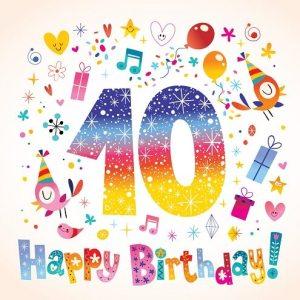 Felicitatie 10 jaar