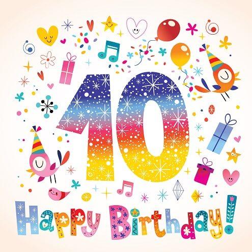 Verjaardagswensen 10 Jaar Felicitatieteksten Wensen En