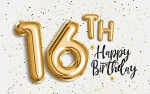 Verjaardag 16 jaar
