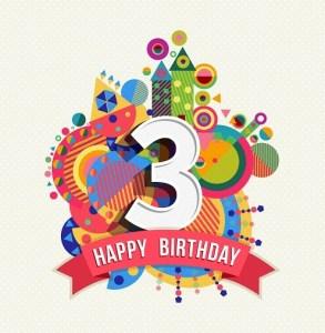 Verjaardag 3 jaar