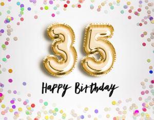 Verjaardag 35 jaar