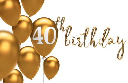 Uitgelezene Verjaardagswensen 40 jaar ⋆ 40 jaar teksten om te feliciteren. LO-68