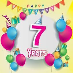 Verjaardag 7 jaar