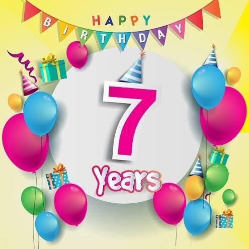 Verjaardagswensen 7 Jaar Wensen En Teksten Voor De 7e