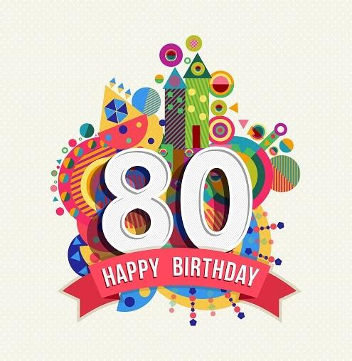 Wonderlijk Verjaardagswensen 80 jaar. Teksten voor felicitatie verjaardag 80 QZ-22