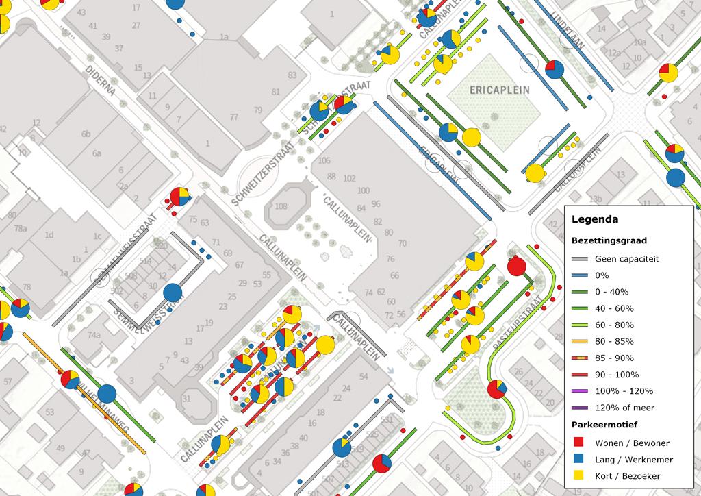 Visualisatie parkeermotief