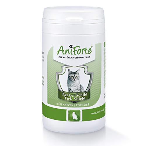 AniForte Protection contre les tiques pour les chats 60 capsules – Protection naturelle contre les tiques grâce à la barrière cutanée, défense contre les tiques et les parasites