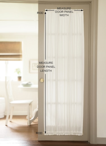 how to measure for door panel curtains