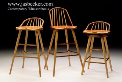 Contemporary Windsor Stools Jas Becker Cabinetmaker