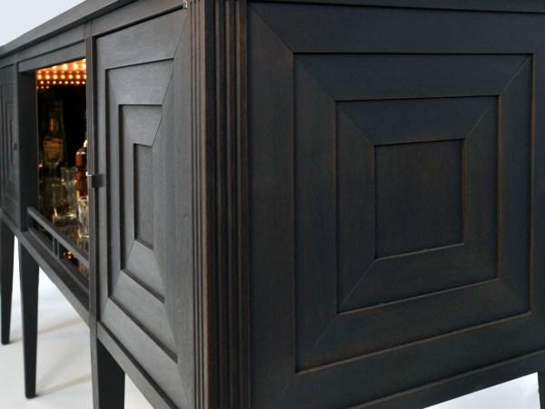 Art Deco Bar Cabinet Dorset Custom Furniture Dan