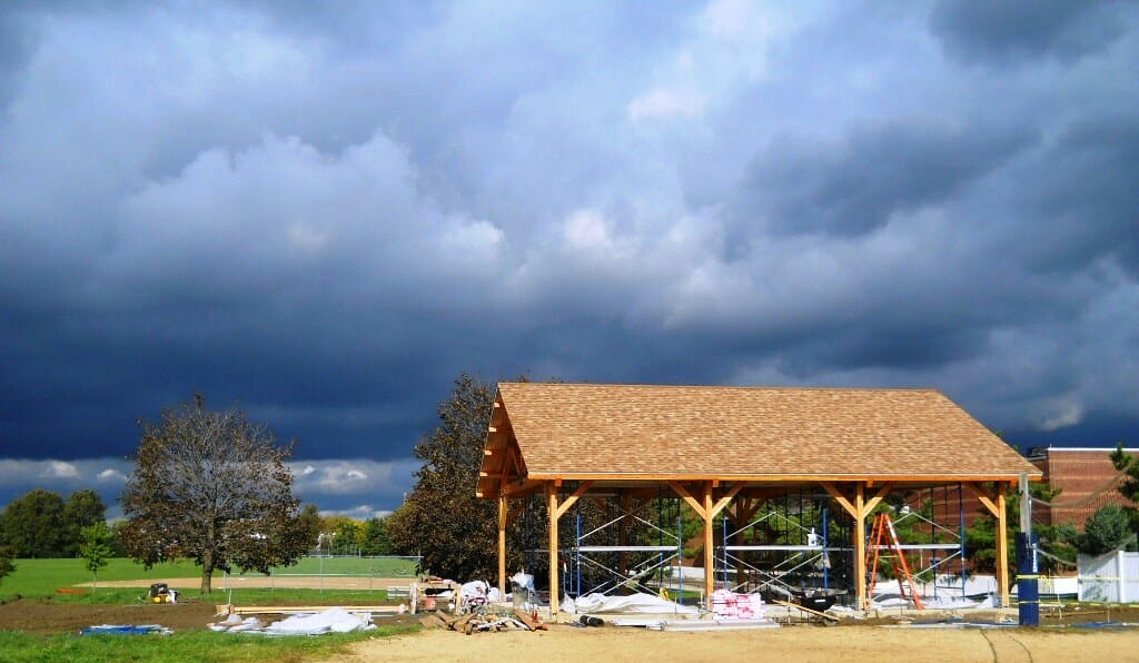 Timber Construction Picnic Pavilion Amp King Post Trusses