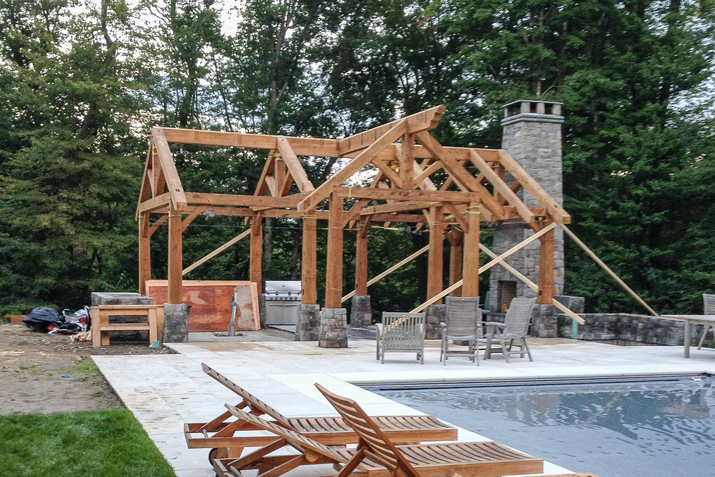 https www vermonttimberworks com our work heavytimber construction pool houses garden pool pavilion
