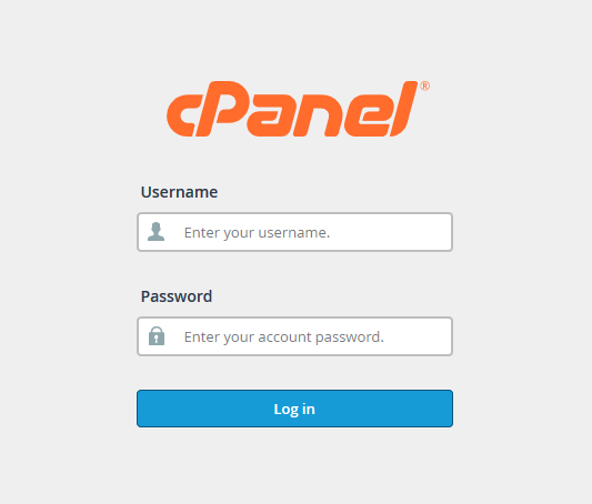 cPanel Login Interface