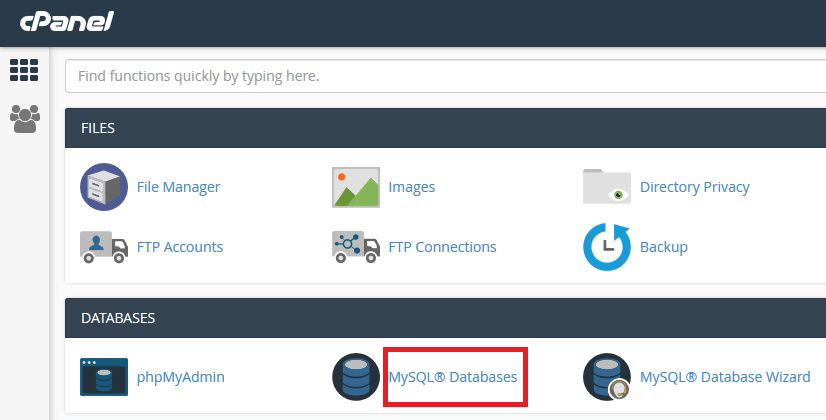 MySQL Option