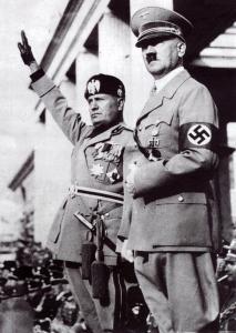 Benito Mussolini en Adolf Hitler
