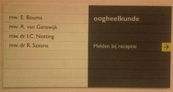 I.C. Notting, oogarts in het Bronovo-ziekenhuis te Den Haag