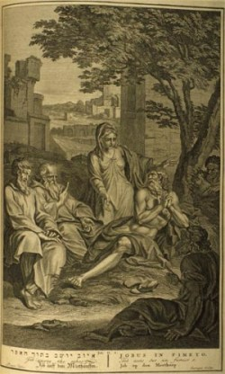 'Job op den Mesthoop' (Figures de la Bible, Den Haag 1728)