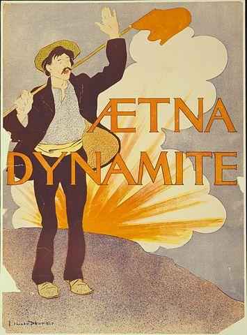 Advertentie voor de Aetna Dynamite Company (1890-1900)