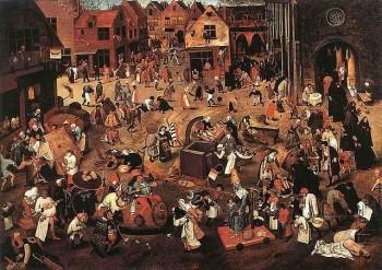 Pieter Bruegel de Oude, 1559: Het gevecht tussen Carnaval en Vastentijd