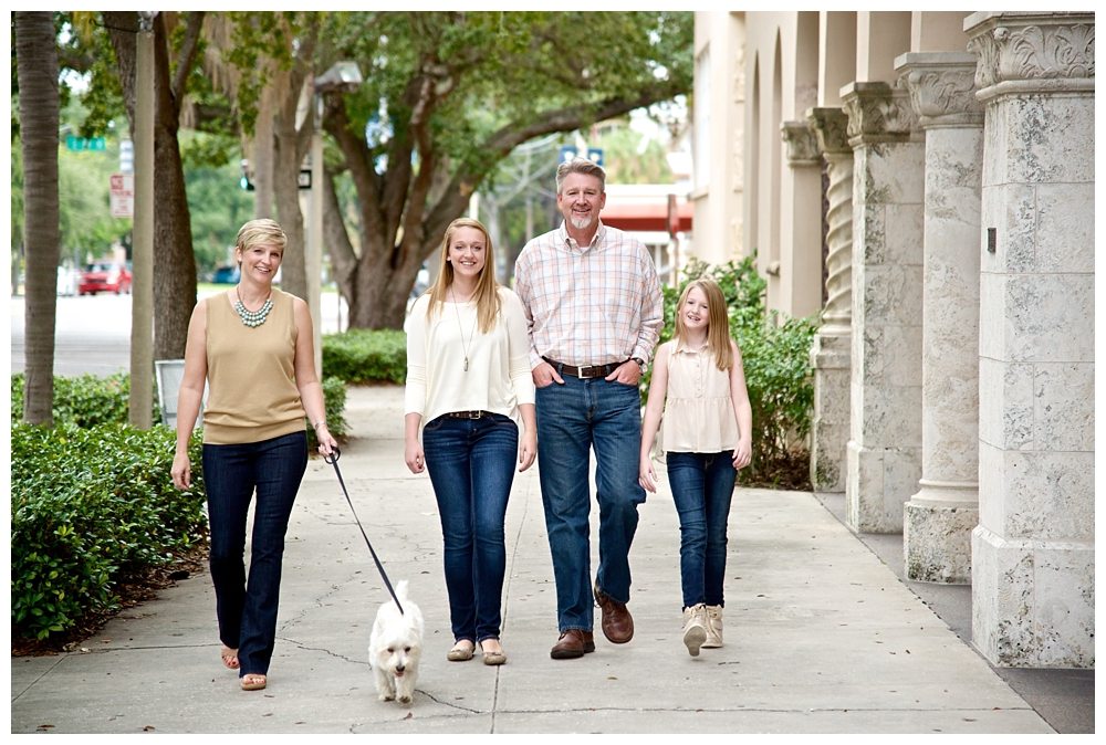 Casual Family Portrait Session in Downtown St. Pete by Vernon Photography