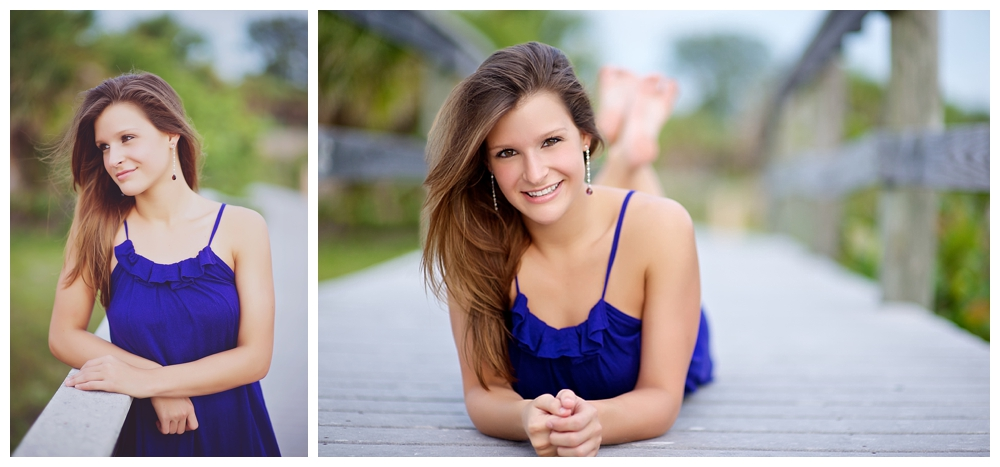Senior Portraits at Sand Key Park in Clearwater Beach