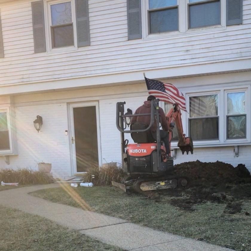 Front yard dug