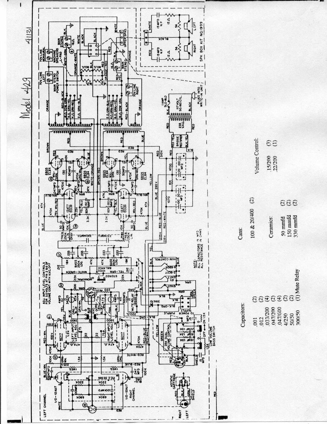 Jukebox List Wiring Diagram For Amplifier A Rock