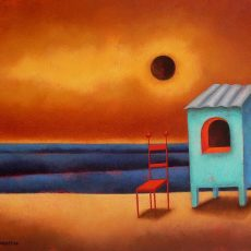 """La Notte Dei Sogni Dominicani 2 18x23"""" Acrylic on canvas, 2009"""