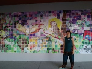 Otto Petersen Elementary Mural with artist Veronica Reeves