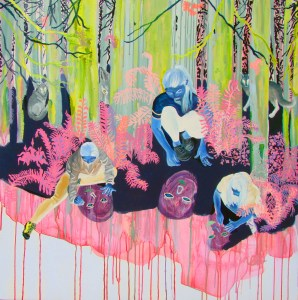 Artist, Veronica Reeves, Ex Nihilo, abstract expressionism, surrealism, painting, portland, oregon,