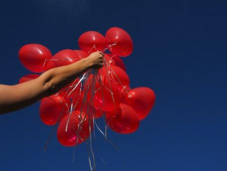 Handful of balloons