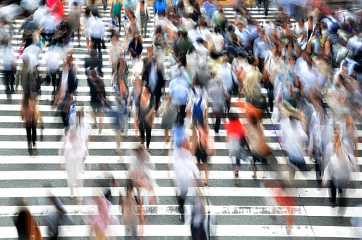 Pedestrians each with their own vivid and complex life