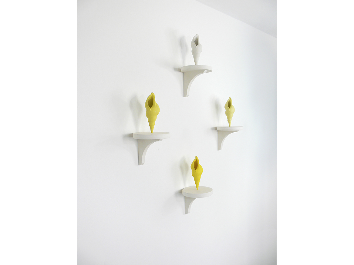 'Yellow Quartet' wall piece, Veronica Wilton