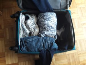 Conference travel with a carry-on: roll your clothes