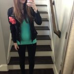 Outfits Lately & GAP maternity really skinny pants love